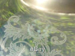 Ancien Grand Photophore Verre Lampe Cristal Baccarat