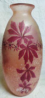 Ancien Grand Vase De François Théodore Legras 1839-1916 D1472
