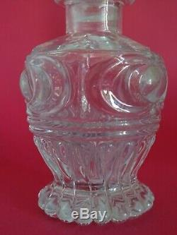 Ancien Petit Flacon Cristal Moule Taille Charles X 1830 Baccarat Le Creusot