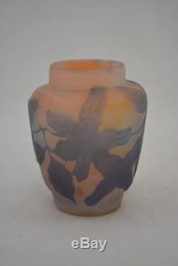 Ancien Petit Vase Emile Galle 1900 En Pate De Verre No Daum