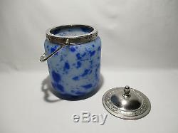 Ancien Pot A Biscuit Seau En Pate De Verre Bucket Jar Cookie Wanne Platzchen