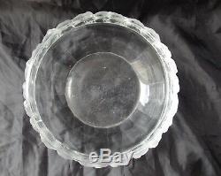 Ancien Saladier Coupe A Fruit Vase Cristal Lalique France Mesanges