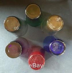 Ancien Service à orangeade en verre de couleur Meisenthal 6 verres et une cruche