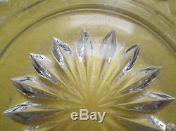 Ancien Service de nuit cristal de Baccarat carafe verre coupelle Diamant biseaux