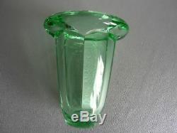 Ancien Vase Daum, Coloris Vert, Annees 1950