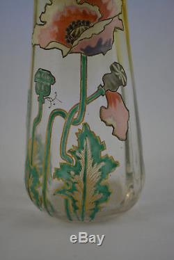 Ancien Vase Emaille Legras