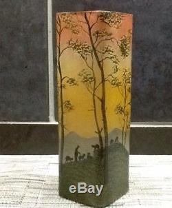 Ancien Vase Legras Travaille À L'acide 1900/1910 (2)