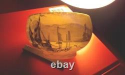 Ancien Vase Miniature Signé Peynaud Avec Un Beau Paysage Lacustre
