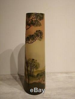 Ancien Vase Pâte De Verre signé Legras (Ma)