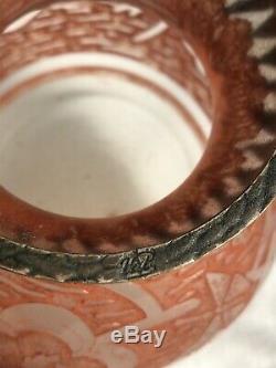 Ancien Vase VAL Verrerie Dart Lorrain Art Déco Glass Pâte De Verre