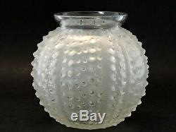 Ancien Vase boule René Lalique modèle OURSIN signé R. LALIQUE