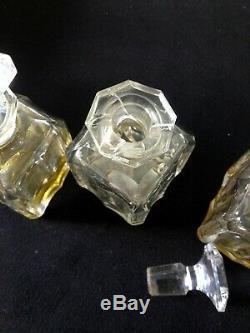 Ancien coffret à parfum bois nacre laiton flacons verre ou cristal