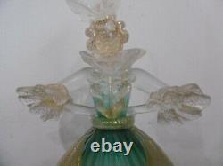 Ancien couple de danseur en verre Barovier & Toso Murano personnage figurine