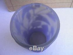Ancien et authentique vase pate de verre Gallé