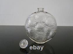 Ancien flacon de parfum Relief Forvil René Lalique signé R Lalique