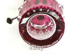 Ancien flacon de parfum Vaporisateur en cristal Val Saint Lambert
