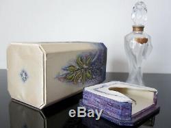 Ancien flacon de parfum avec boite Baccarat. Perfume bottle