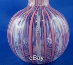 Ancien flacon de parfum verre de venise murano berlingot fleurs soufflé ep 1900