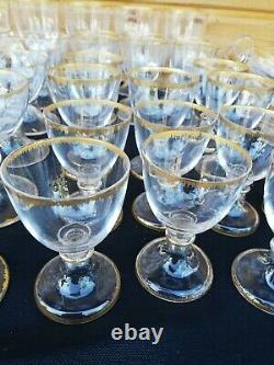 Ancien grand Service Cristal BaccaratVal St Lambert 57 pieces/Old Crystal