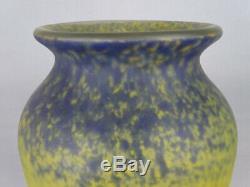 Ancien grand vase en pâte de verre Fabrication Muller Frères old glass maronéen