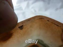 Ancien jardinière coupe en pate de verre Legras dégagé à l'acide à décor floral