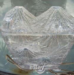 Ancien pied de lampe en cristal signé Daum hauteur 33 cm