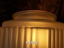 Ancien plafonnier lampe art deco 1930 P. D'AVESN globe en verre vintage design