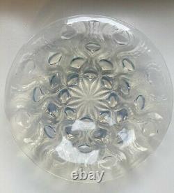 Ancien plat coupe vide poche verre opalescent signé R. Lalique France Art Déco