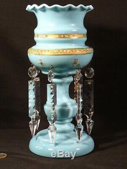Ancien porte ananas époque Louis Philippe opaline pendeloques cristals XIXéme