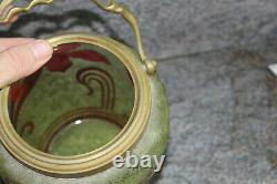 Ancien seau à biscuits par Baccarat en cristal multi-couches