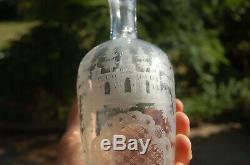 Ancien service à liqueur en cristal magifique petit verre et carafe en cristal