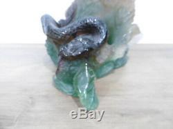 Ancien support pour vase en pate de verre signé Daum