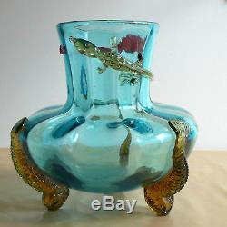 Ancien vase Art Nouveau japonisant Auguste Jean antique vase