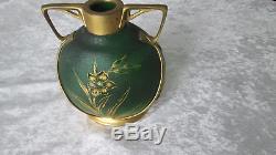 Ancien vase Art nouveau dégagé à l'acide Montjoye Legras époque Daum Gallé