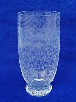 Ancien vase BACCARAT modèle Michel ange cristal crystal ciselé