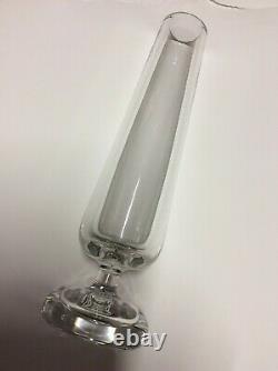 Ancien vase Cristal de Baccarat SOLIFLORE estampé signé