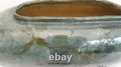 Ancien vase HAVILAND&CO Limoges, faïence, Art Nouveau, double signature