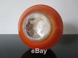 Ancien vase Legras en verre émaillé. Art nouveau. Pate de verre