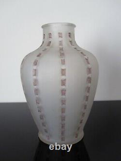 Ancien vase René Lalique modèle Bandes de roses. R Lalique France