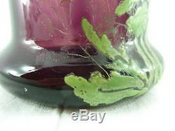 Ancien vase VERRE ÉMAILLÉ LEGRAS lot 4