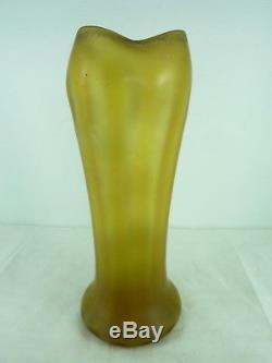 Ancien vase VERRE ÉMAILLÉ LEGRAS lot 7
