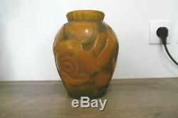 Ancien vase art déco signé Pierre D'Avesn