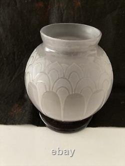 Ancien vase boule le verre français Charder Schneider art déco 1920