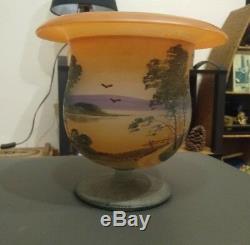 Ancien vase coupe signé KOLEK vintage super état