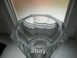 Ancien vase cristal baccarat modéle EDITH année 30 hauteur 25 cm