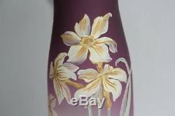 Ancien vase émaillé Fleurs (45835)