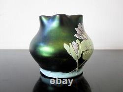 Ancien vase irisé. Loetz, Kralik, poschinger Signature à identifier