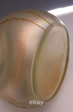 Ancien vase miniature verre irisé décor pavot Loetz Arcadia Vers 1890/1900