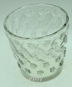 Ancien vase signé René LALIQUE décor de gazelles art déco collection