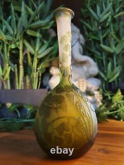 Ancien vase signé emile Gallé GINKO authentique